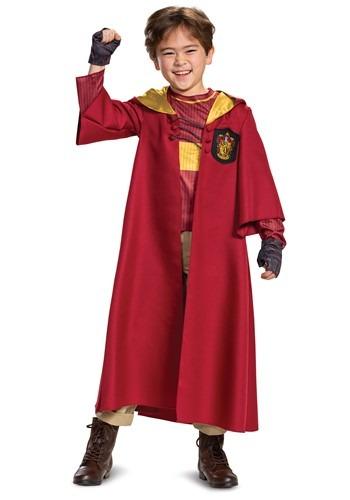 Fantasia infantil de Harry Potter Deluxe da Grifinória para quadribol – Kid's Harry Potter Deluxe Gryffindor Quidditch Robe Costume