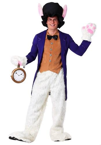 Fantasia masculino de coelho branco plus size – White Rabbit Plus Size Men's Costume