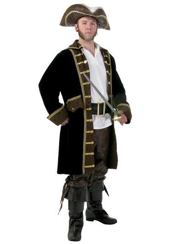 Fantasia masculino de pirata realista plus size – Men's Plus Size Realistic Pirate Costume