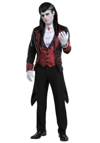 Fantasia masculino de vampiro Plus Size – Men's Plus Size Dashing Vampire Costume