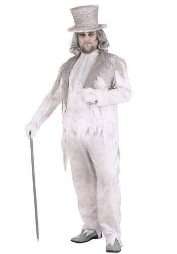 Fantasia masculino plus size Fantasma Vitoriano -Plus Size Victorian Ghost Men's Costume