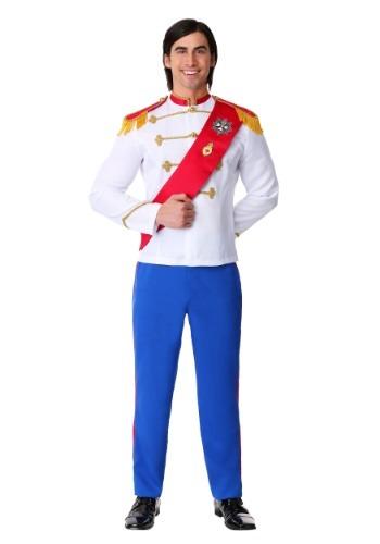Fantasia masculino plus size de príncipe encantado – Men's Plus Size Charming Prince Costume