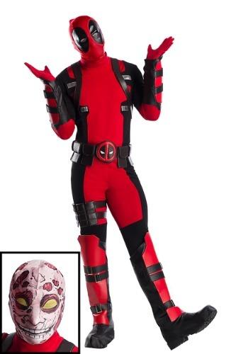 Fantasia masculino premium da Marvel Deadpool Plus Size – Premium Marvel Deadpool Plus Size Mens Costume