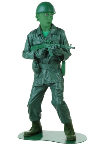 Fantasia o Exército Verde Infantil – Child Green Army Man Costume