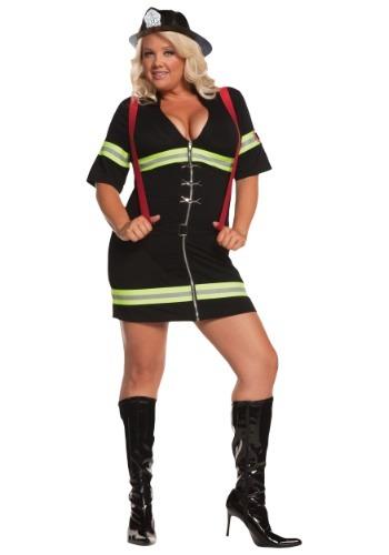 Fantasia sexy de Bombeira plus size – Plus Size Sexy Firegirl Costume