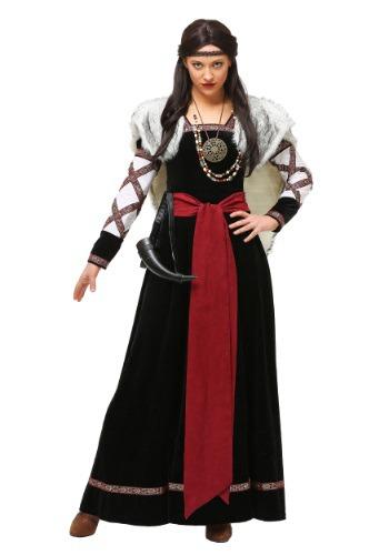 Fantasia vestido feminino plus size Viking – Women's Plus Size Dark Viking Dress Costume