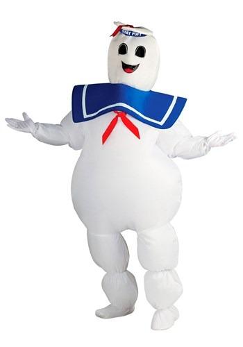 Fantasias de caça-fantasmas inflável plus size – Plus Size Inflatable Ghostbusters Stay Puft Costume