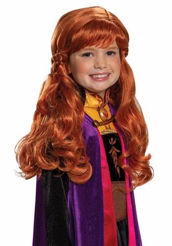 Peruca Anna Frozen 2 infantil – Frozen 2 Girl's Anna Wig