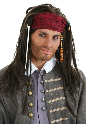 Peruca Piratas do Caribe  Autêntica – Authentic Pirate Wig