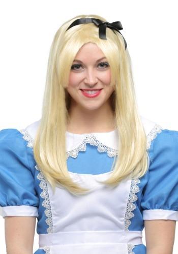 Peruca adulta deluxe Alice no Pais das Maravilhas  – Deluxe Alice Adult Wig