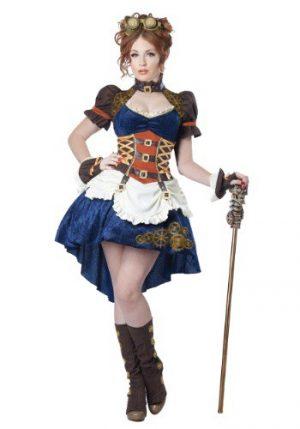 fantasia de Steampunk feminino Plus SIze  -Women's Plus Size Steampunk Fantasy Costume