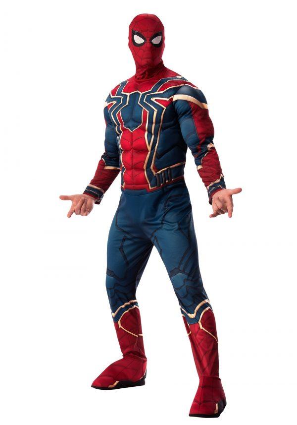 Fantasia Homem Aranha Spider Man – Marvel Adult Infinity War Deluxe Iron Spider Costume