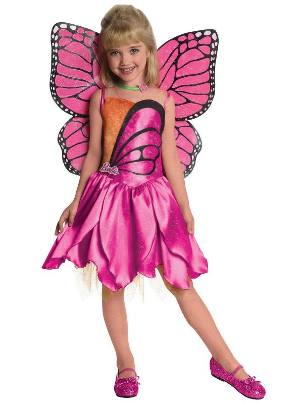Fantasia Infantil Barbie-Deluxe Mariposa  – Barbie-Deluxe Mariposa Toddler  Child Costume