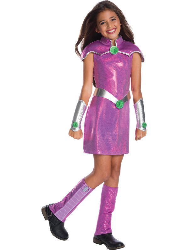 Fantasia Infantil Estrelar Jovens Titãs  – Girls Starfire Deluxe Costume