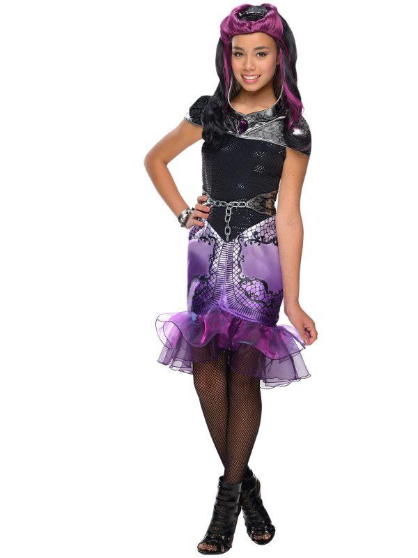 Fantasia Infantil  Ever After High Raven Queen – Ever After High Raven Queen Girls Costu