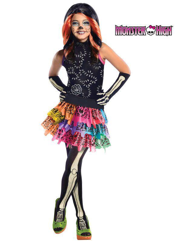 Fantasia Infantil  Skelita Calaveras Monster High  – Girls Skelita Calaveras Monster High Co