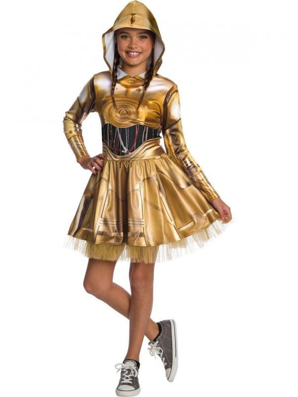 Fantasia Infantil Star Wars C3Po – Star Wars Classic C3Po Dress