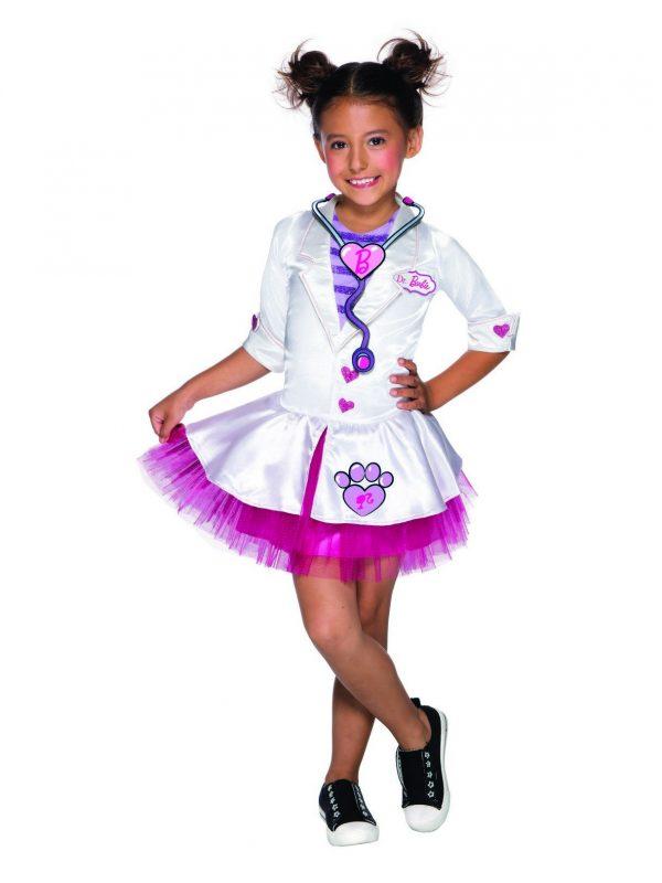 Fantasia Infantil de Barbie Veterinária  – Pet Vet Barbie Costume