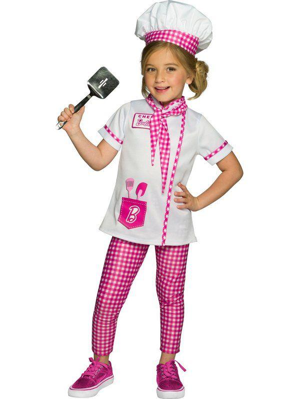 Fantasia de Barbie Chef / Baker Infantil – Barbie Chef/Baker Child Costume