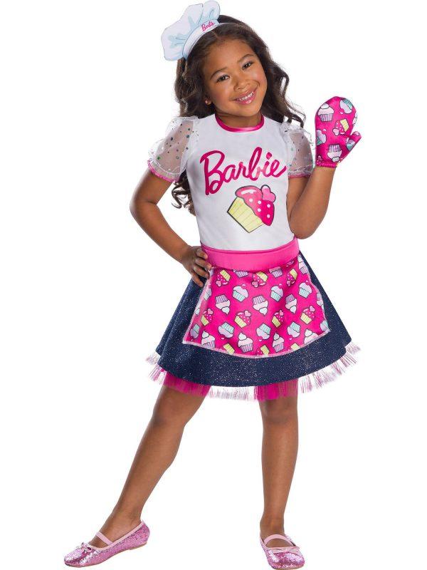 Fantasia de Barbie Cozinheira Chef para meninas – Barbie Baker Chef Costume for Girls