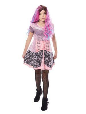 Fantasia de Vestido infantil descendentes de Audrey – Audrey Girl's Descendants Dress Costume