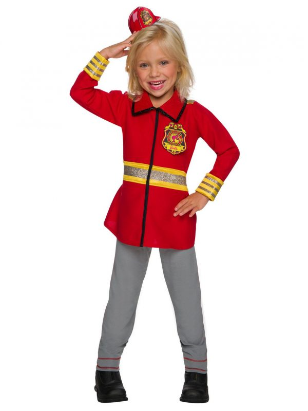 Fantasia de bombeiro Barbie para meninas – Barbie Firefighter Costume for Girls