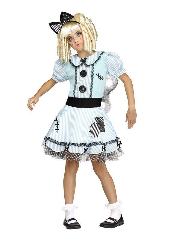 Fantasia de boneca de corda infantil – Wind-Up Doll Girl's Costume