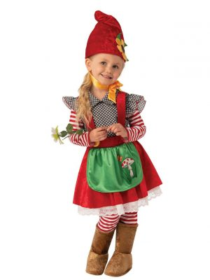 Fantasia de gnomo de jardim infantil – Garden Gnome Girl's Costume