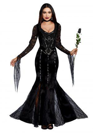 Fantasia de mamãe Morticia Familia Addams – Women's Mortuary Mama Costume