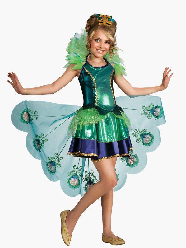 Fantasia de pavão feminino infantil  – Girls Peacock Costume