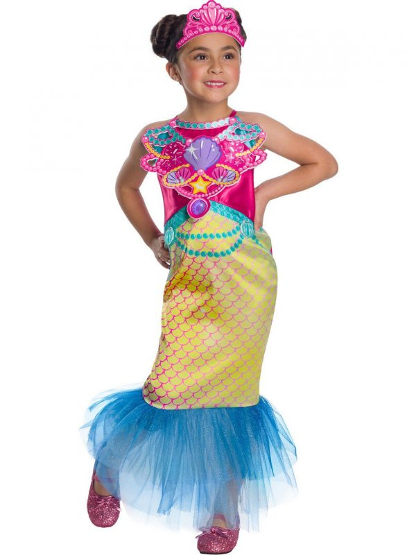 Fantasia de sereia barbie para meninas – Barbie Mermaid Costume for Girls