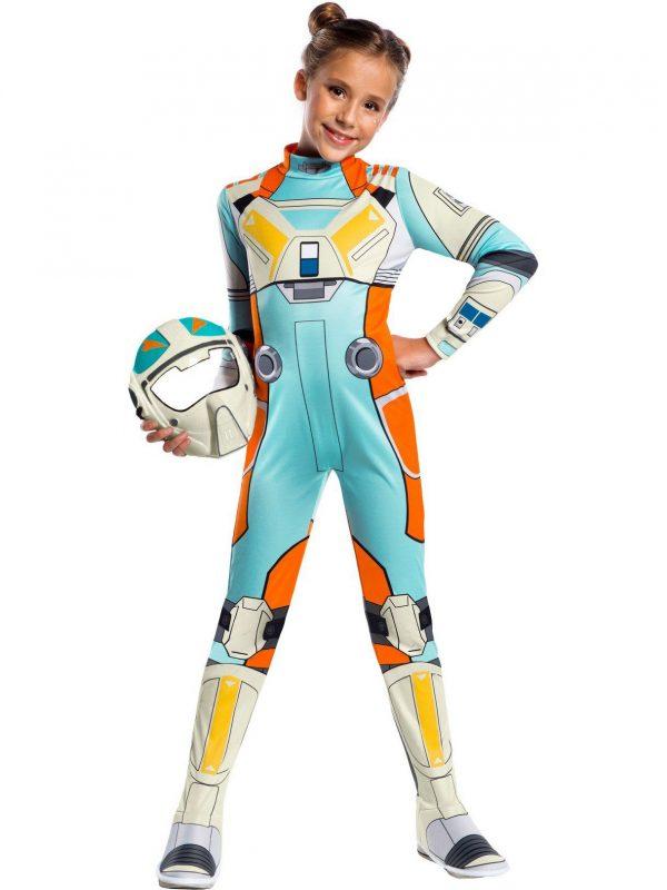 Fantasia  infantil clássico da resistência de Star Wars Torra Doza – Star Wars Resistance Classic Torra Doza Child Costume