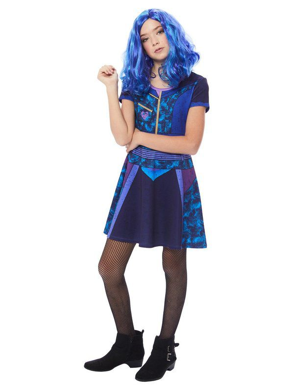 Fantasia infantil descendentes de Mal – Mal Girl's Descendants Dress Costume
