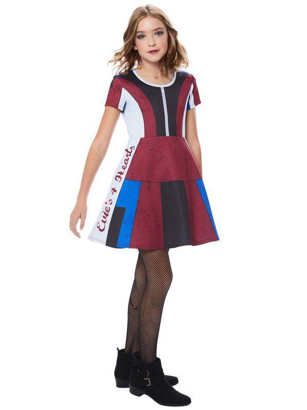 Fantasia  vestido de descendentes de Evie Girl – Evie Girl's Descendants Dress Costume