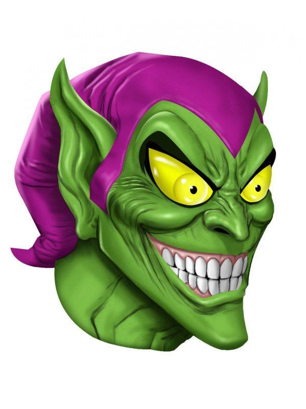 Máscara de Látex para Adultos de Goblin Verde – Green Goblin Adult Overhead Latex Mask