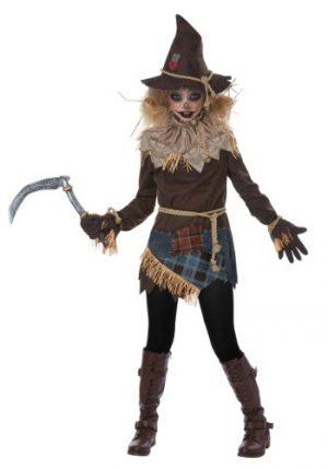 Fantasia de Espantalho Assustador para meninas- Creepy Scarecrow Girls Costume