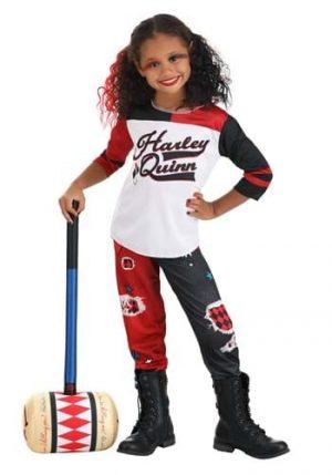Fantasia de Esquadrão Suicida de Harley Quinn para crianças- Harley Quinn Suicide Squad Costume for Children