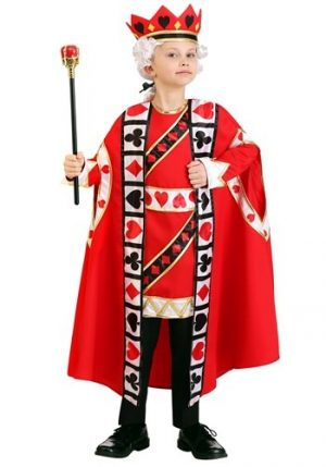 Fantasia de Rei de  Copas para Crianças- King of Hearts Costume for Kids