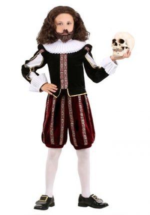 Fantasia de William Shakespeare Infantil – Boy's William Shakespeare Costume