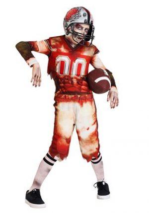 Fantasia de jogador de futebol infantil zumbi – Child Zombie Football Player Costume