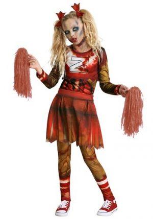 Fantasia de líder de torcida zumbi para meninas- Zombie Cheerleader Costume for Girls