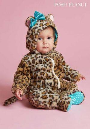 Fantasia de leopardo Lana de amendoim para bebes – Posh Peanut Lana Leopard Costume for Infants