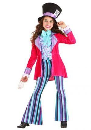 Fantasia  de menina do Chapeleiro Maluco – Whimsical Mad Hatter Girl's Costume