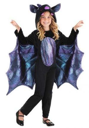 Fantasia de morcego brilhante para crianças- Shiny Bat Costume for Kids