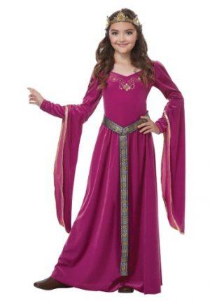 Fantasia de princesa rosa medieval para meninas- Pink Medieval Princess Girls Costume
