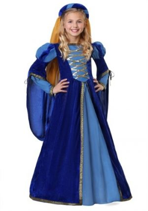 Fantasia de rainha renascentista para meninas- Renaissance Queen Costume for Girls
