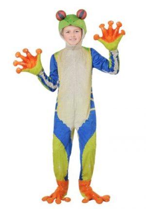 Fantasia de sapo-árvore realista de criança – Childs Realistic Tree Frog Costume