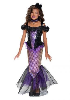 Fantasia de sereia sombria de menina – Girl's Darkest Siren Costume