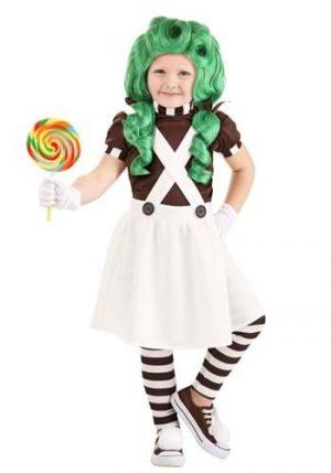 Fantasia de trabalhador de fábrica de chocolate para crianças- Toddler Chocolate Factory Worker Costume for Girls
